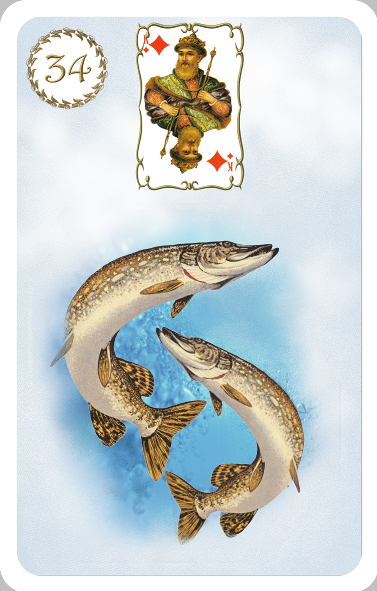 Карта рыбы в любовных отношениях, на вопросы о финансах и работе.